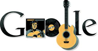 Google Logo: Vladimir Vysotsky's 74th birthday - Soviet actor & musician artist